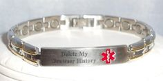 A medical-alert bracelet like this might prove very useful for some...