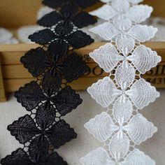 4 pieces 12.5*14cm Vintage black Lace Appliques DIY Sewing Craft