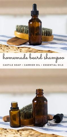 Making your own beard shampoo will keep your beard clean without the chemicals found in traditional shampoos. This DIY beard shampoo is made with all-natural ingredients, scented with essential oils, and will keep your beard soft and easy to style. #beardshampoo #homeamdeshampoo #naturalbeardcare #beardcare Beard Shampoo, Diy Shampoo, Homemade Shampoo, Beard Soap, Homemade Hair, Homemade Soaps, Shampoo Bar, Essential Oil For Men, Oils For Men