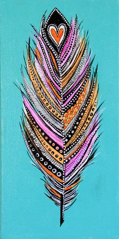 feather original painting