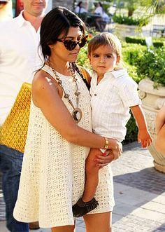 Kourtney Kardashian and Baby Mason