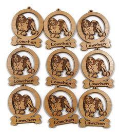 9 Mini Lowchen Dog Ornaments