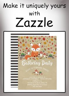 Shop Fall Fox Kids Sandy Woodland Birthday Party Invitation created by Sugarcoating. Personalize it with photos & text or purchase as is! Fall Birthday, Birthday Parties, Fox Kids, Zazzle Invitations, Birthday Party Invitations, White Envelopes, Woodland, Card Making, Anniversary Parties