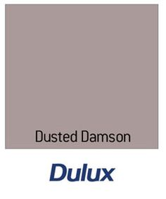 Dulux Matt Paint Dusted Damson to go up the stairs wall