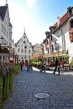"""Tallinn, Estonia.  I ate at the """"Old Hasna"""" in the background..overpriced and tacky but a beautiful city with much history!."""