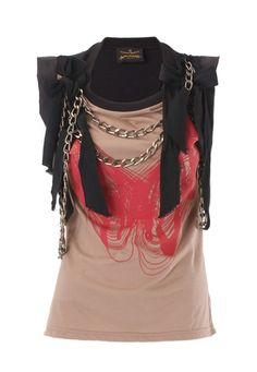 WANT! Punk Chaos Chain Top ($280) from Vivienne Westwood