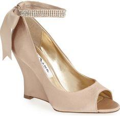 e9f1ced83d7 Nina  Emma  Crystal Embellished Ankle Strap Pump in Beige (Online Only).