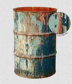 Old Rusty Metal Barrel