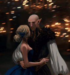Solas and Lavellan, 3D by nipuni