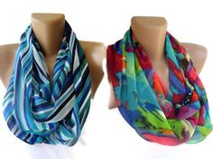 eternity scarves TWO infinity loop scarf  women fashion by seno, $36.00
