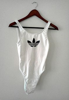 white Adidas one piece swimming costume Fashion Killa, Look Fashion, White Fashion, Swimming Costume, Mode Outfits, Mode Inspiration, American Apparel, Beachwear, Ibiza Swimwear