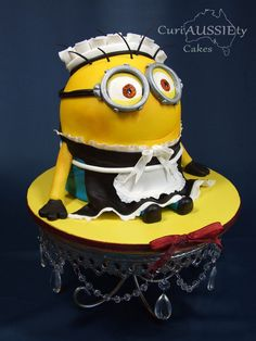 I had never done a minion before so when given free reign to do a cake this one was first in line. I loved this little guy so much and was so thrilled he turned out exactly like I wanted.