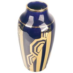French Art Deco Vase by Odyv Egyptian Revival | From a unique collection of antique and modern vases and vessels at https://www.1stdibs.com/furniture/decorative-objects/vases-vessels/