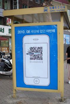 QR bus stop poster