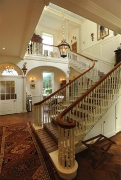 Gorgeous Foyer and Staircase ~ Interior Design by delfipz