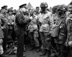 In one of the most iconic photographs from the Normandy operation, Supreme Allied Commander, General Dwight D. Eisenhower visits paratroopers on June 5, 1944, moments before the troops boarded transport planes bound for Normandy and the June 6 D-Day invasion.