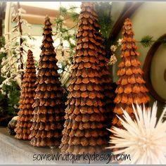 Oh how I love these Christmas Trees I ve made over the years with pine cones.