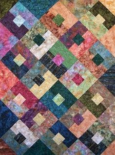 Fast, Easy and Fun Baby Quilt Pattern This one block quilt can make a variety of dramatic designs depending on how you decide to place the blocks and the size of sashing that you use. Scrappy Quilt Patterns, Batik Quilts, Jellyroll Quilts, Scrappy Quilts, Easy Quilts, Fat Quarter Quilt Patterns, Owl Quilts, Modern Quilt Patterns, Blue Quilts