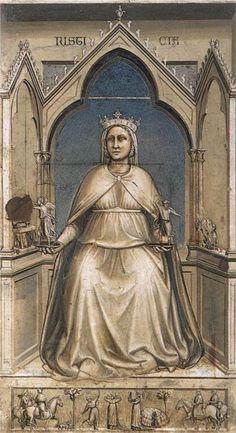 Giotto - Cappella degli Scrovegni - Padova - Allegoria della Giustizia - affresco - 1305 circa