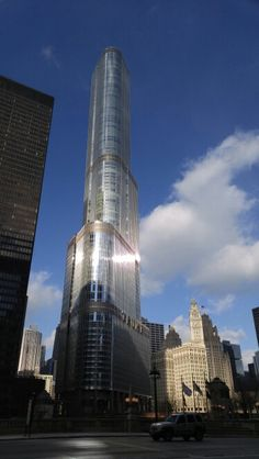 Trump Tower Chicago Ill Big Shoulders, Trump Tower, My Town, Burj Khalifa, South Dakota, Willis Tower, Indiana, Chicago, Florida