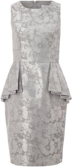Peplum Brocade Dress