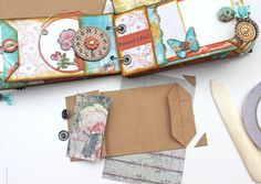 """With A Grin: """"Zephry"""" Mini Album + Quick Paper Bag Page Tutorial"""