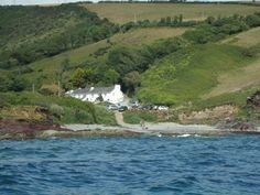 VIEW FROM THE SEA,TALLAND BAY-Cornwall