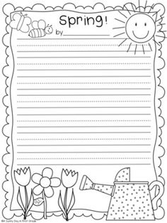 Here's a spring writing freebie for you! It contains five pages, two for a spring acrostic poem and three for a creative writing. Get your kiddos excited about spring with some fun writing paper! Cool Writing, Kids Writing, Writing Paper, Writing Activities, Writing Ideas, Creative Writing, Writing Images, Writing Poetry, First Grade Writing