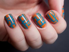 Touched by an Angle - LCN Shades of Desert Nail Art - Chalkboard Nails
