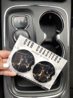 car essentials Black Marble car coasters set of 2 sandstone car coasters Maserati Ghibli, Bmw I8, Car Interior Accessories, Car Accessories For Girls, Vehicle Accessories, Wrangler Accessories, Jewelry Accessories, Fashion Accessories, Vintage Accessories