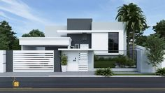 for 1 kanal Layouts Casa, House Layouts, Duplex House Plans, Modern House Plans, Front Wall Design, Minimal House Design, Modern Bungalow House, Appartement Design, Dream House Exterior
