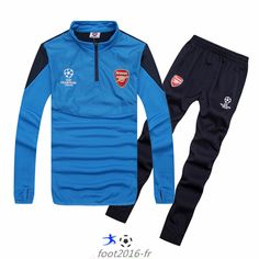Destockage Champions league survetement equipe de foot Arsenal Bleu 2014 2015 -01 pas cheres décathlon