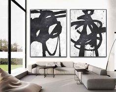 Set Of 2 Extra Large Acrylic Painting On Canvas por CelineZiangArt