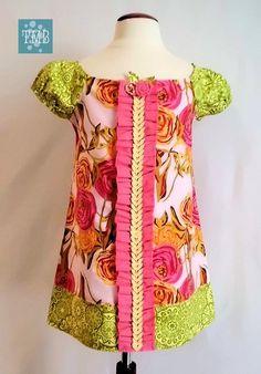 Girl's size 3 dress from The Mulberri Bush on Etsy.