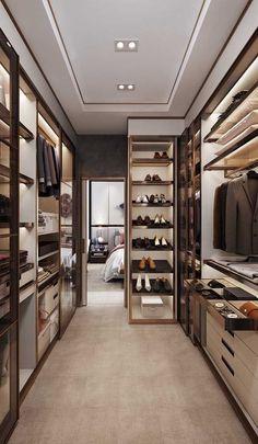 Walk In Closet Design, Bedroom Closet Design, Home Room Design, Closet Designs, Master Bedroom Closet, Modern Bedroom Design, White Bedroom, Bedroom Designs, Girls Bedroom