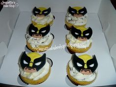 Wolverine cupcakes... Hahaha I HAVE to make these for Jody Ray's going away  party!