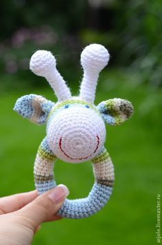 """Развивающие игрушки ручной работы. Ярмарка Мастеров - ручная работа Погремушка """"Жирафик"""". Handmade."""