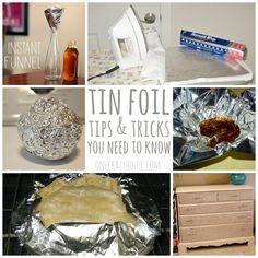 Household hacks using tin foil!!