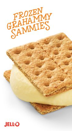 You and your kids are going to wish you found this pin hours ago. At least then you'd be that much closer to tasting Frozen Grahammy Sammies. All it takes is some JELL-O Instant Pudding, COOL WHIP Whi (Cool Easy Graham Crackers) Frozen Desserts, Just Desserts, Delicious Desserts, Dessert Recipes, Yummy Food, Frozen Treats, Healthy Food, Yummy Treats, Sweet Treats