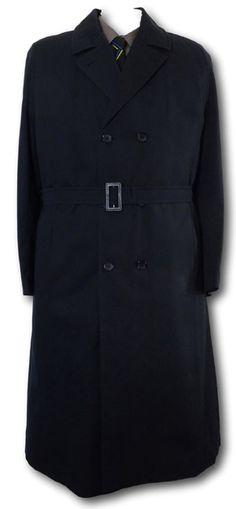 Classic Royal Blue Gabardine Raincoat With Belt   School Gaberdine ... 0e48539e0e2