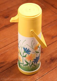 Hey, I found this really awesome Etsy listing at https://www.etsy.com/listing/385132130/yellow-and-blue-flower-thermos-pump-a