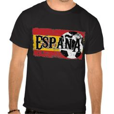 Soccer Shirt - Spain #soccer #football #futbol #tees #tshirts #shirt #fashion #sports #zazzle #espana #spain