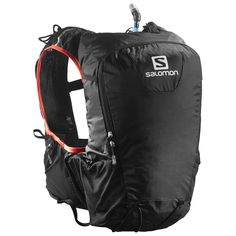 SALOMON SKIN PRO 15 SET (1.2017)  Excellent run commuting bag. Holds all work clothes (minus shoes) along with a light jacket and a lunch container. Under 10lb load it bounces up and down a little but not side to side like other packs. Sternum straps work very well in lieu of the more common wait / hip belt. This wears like a vest even though it looks like a backpack.