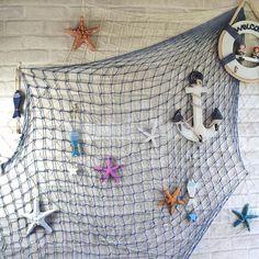 Mediterranean Netting Blue Fish Net Craft Beach Scene Photo Prop Diy 1.5X2M