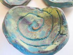 Handmade Ceramic Ring Trinket Dish Pot Peacock by TotallyToTheT, $18.00