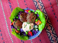 baked pea and herb falafel 2