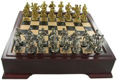 Civil War chess set.