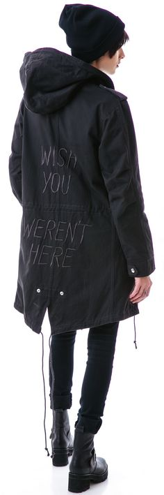 UNIF Wish You Weren't Trench | Dolls Kill