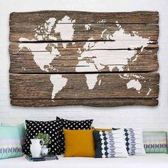 Monde carte murale Art pochoir  réutilisables pochoirs pour