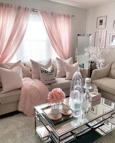 Living Room Designs elegant small living room decor ideas for you to get inspired Classy Living Room, Living Room Decor Cozy, Home Living Room, Interior Design Living Room, Living Room Designs, Bedroom Decor, Girl Bathroom Decor, Romantic Living Room, Interior Colors